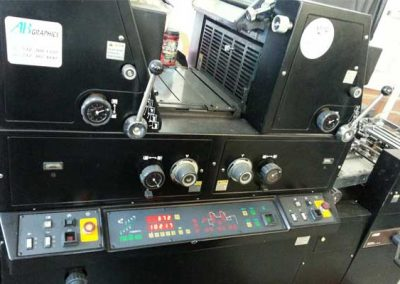 AB Dick 9985 Two Color Offset Press