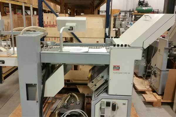 MB Multimaster CAS 52 Folding Machine