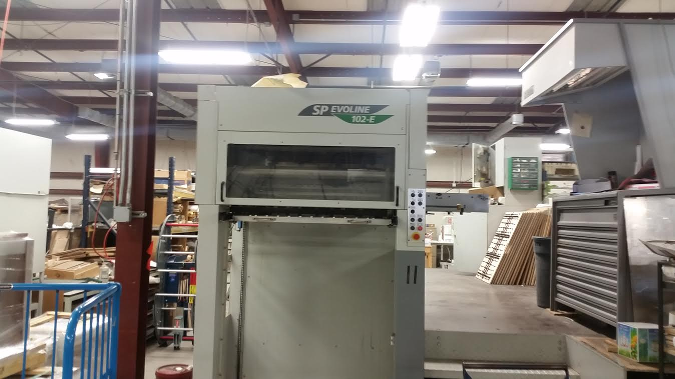 2003 Bobst SP Evoline 102-E Flatbed Cutter -5