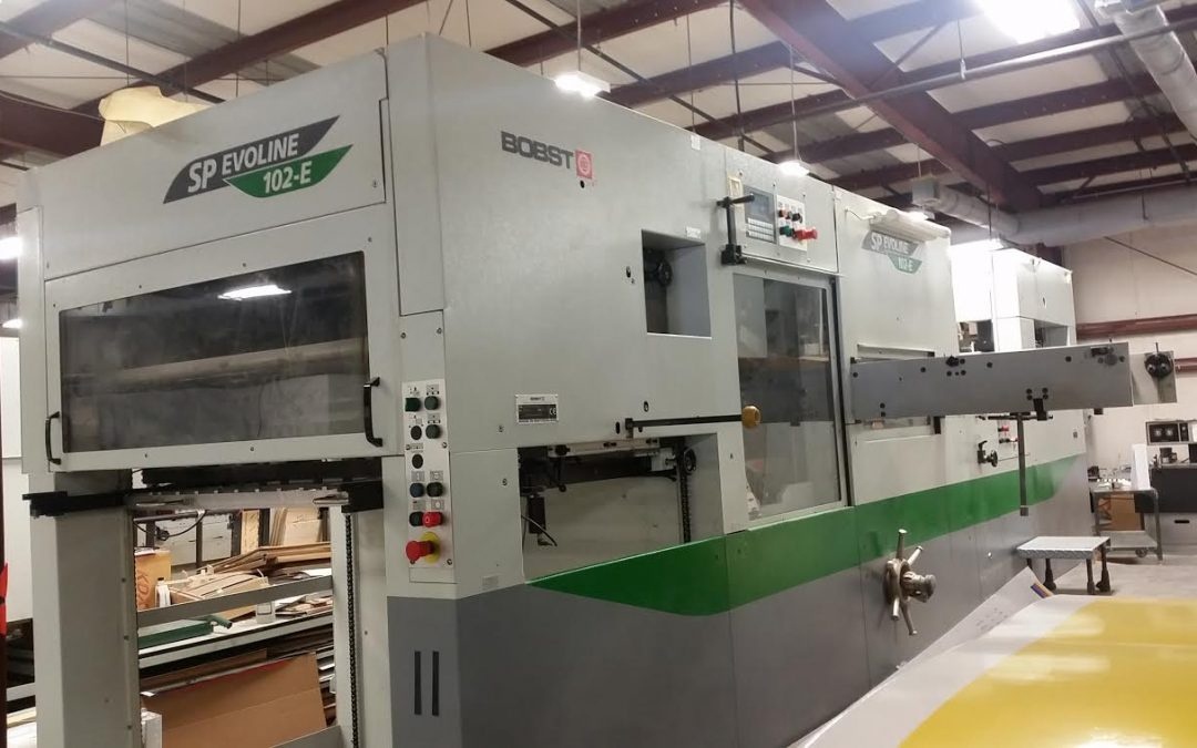 2003 Bobst SP Evoline 102-E Flatbed Cutter