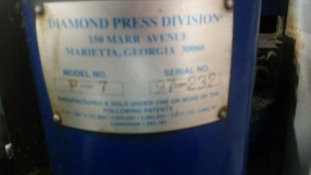 Diamond P7-13 Two Color Envelope Press-4