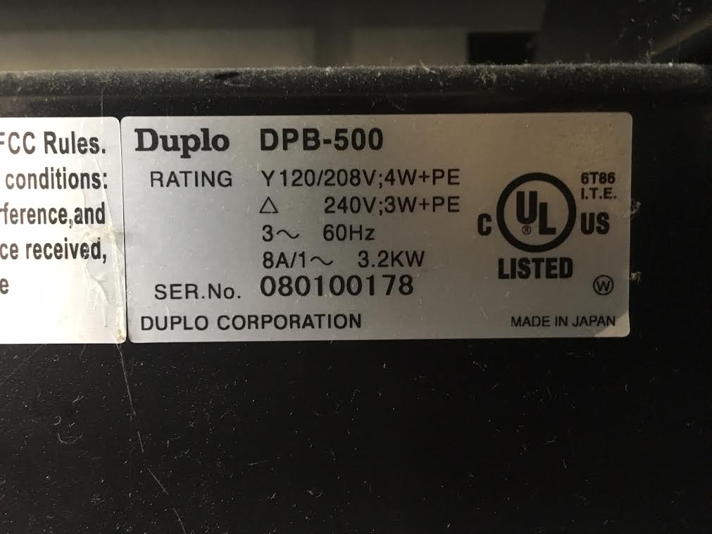 Duplo DPB 500-1