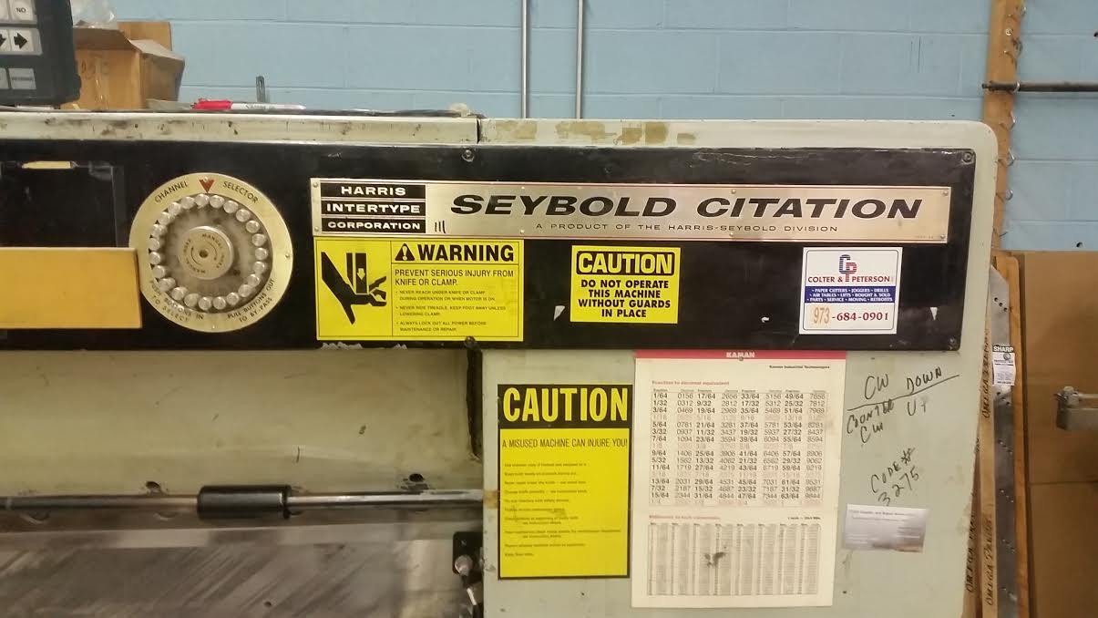 Harris Seybold Citation 46 Cutter-1