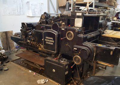 Heidelberg 28″ Cylinder Press