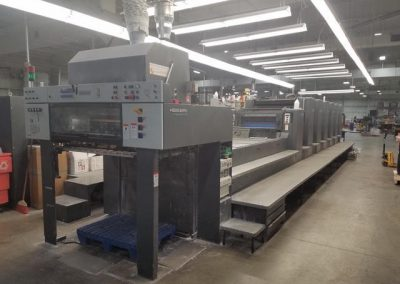 Heidelberg CD 102-6+LX, 6-color plus coating offset printing press