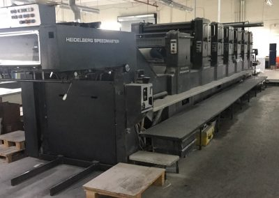 Heidelberg SM102  6P+L, 6 color plus coater offset printing press