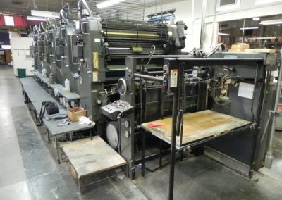 Heidelberg SM 102F, 5-Color Straight Offset Printing Press