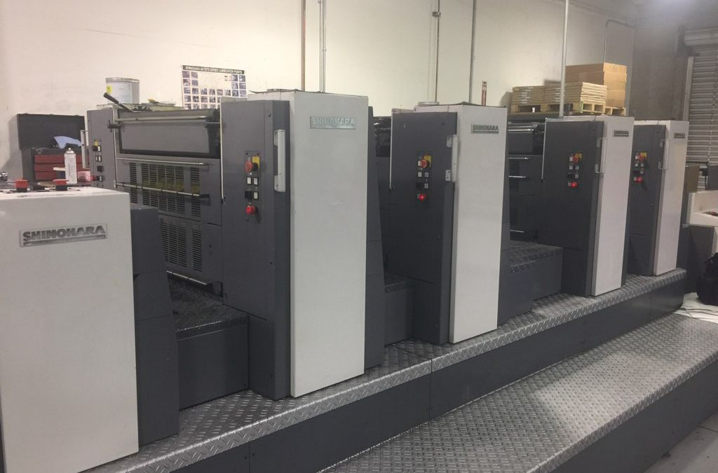 2005 shinohara 75IVHP, 4-Color Plus coater Offset Printing Press