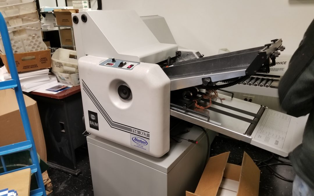 2017 Baumfolder 714 XLT ULTRAFOLD with Right Angle & Perforation