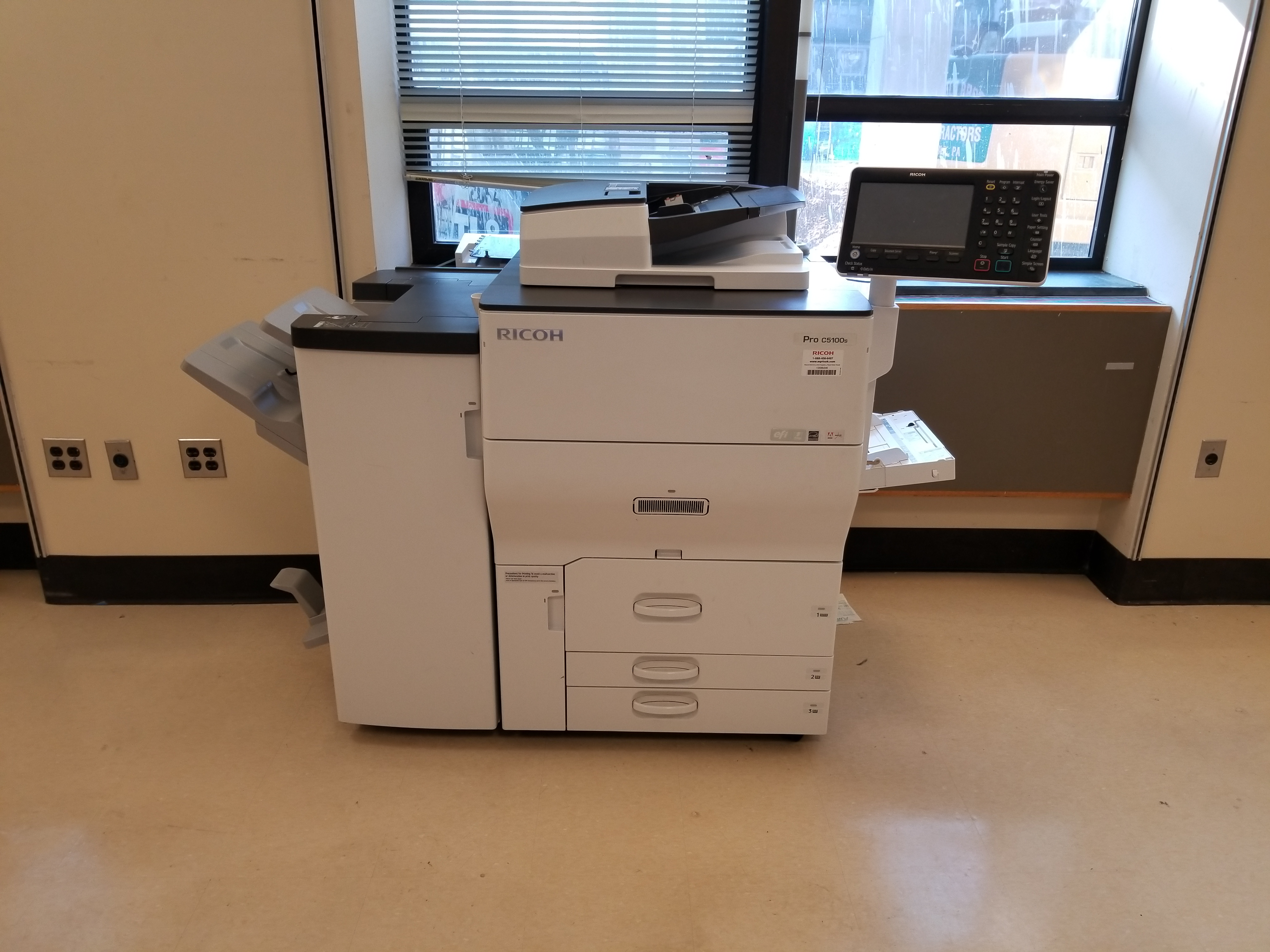 2016 Ricoh Pro C5100 with Booklet Finisher with Scanner - 1